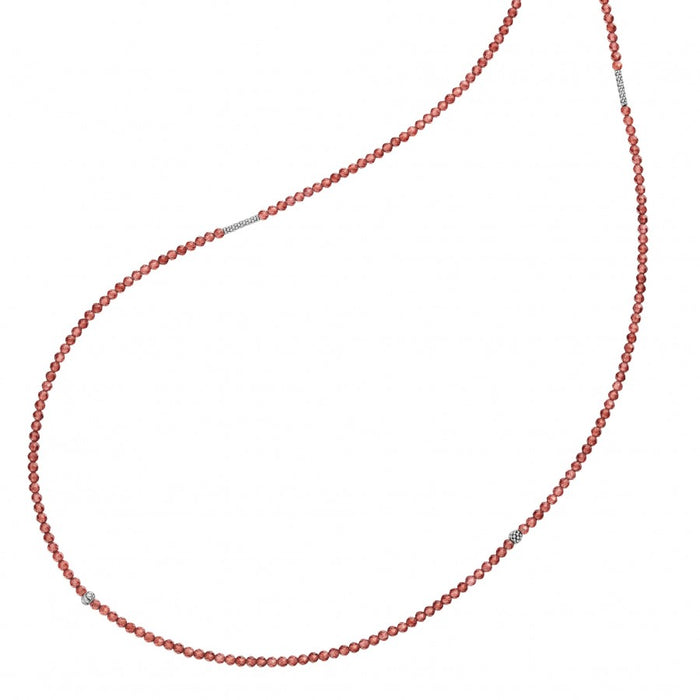 LAGOS Caviar Color Garnet Beaded Necklace