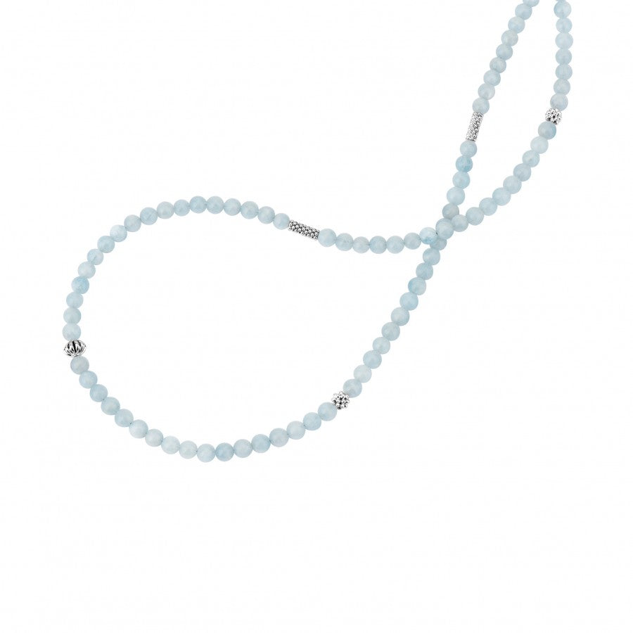 LAGOS 'Caviar Icon' Aquamarine Necklace