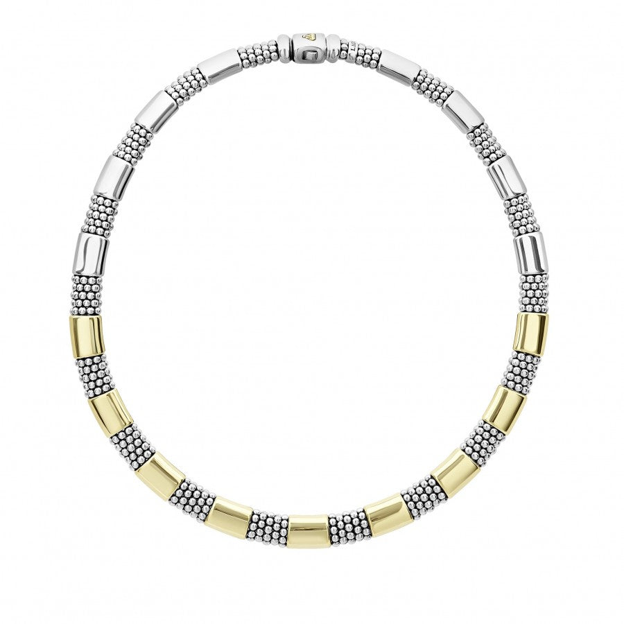 LAGOS High Bar Gold Caviar Necklace