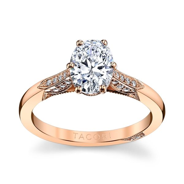 Tacori 2651 Oval 18k Rose Gold Engagement Ring