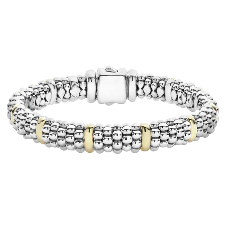 Lagos 'Signature Caviar' Beaded Bracelet with Gold
