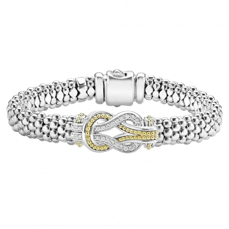LAGOS 'Newport' Knot Caviar Bracelet with Diamonds