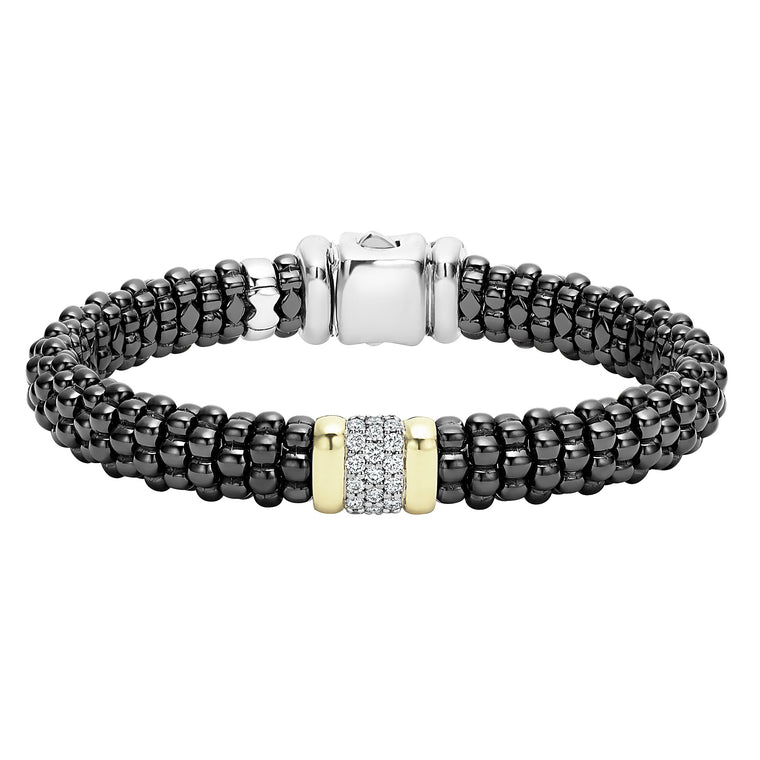 Lagos 'Black Caviar' Diamond Beaded Bracelet