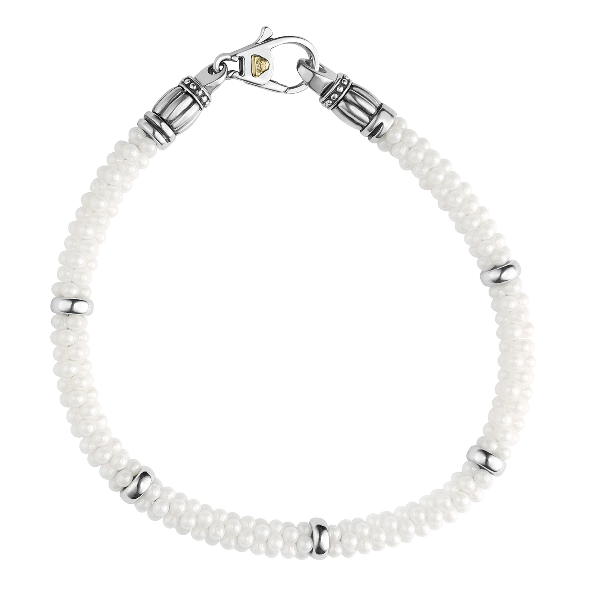 Lagos 'White Caviar' 5mm Beaded Bracelet