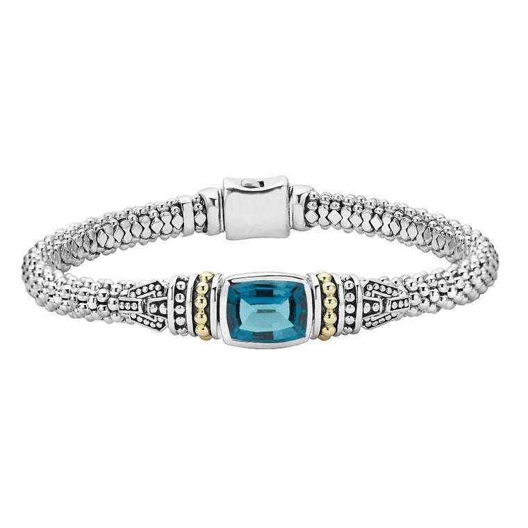Lagos 'Caviar Color' London Blue Topaz Bracelet