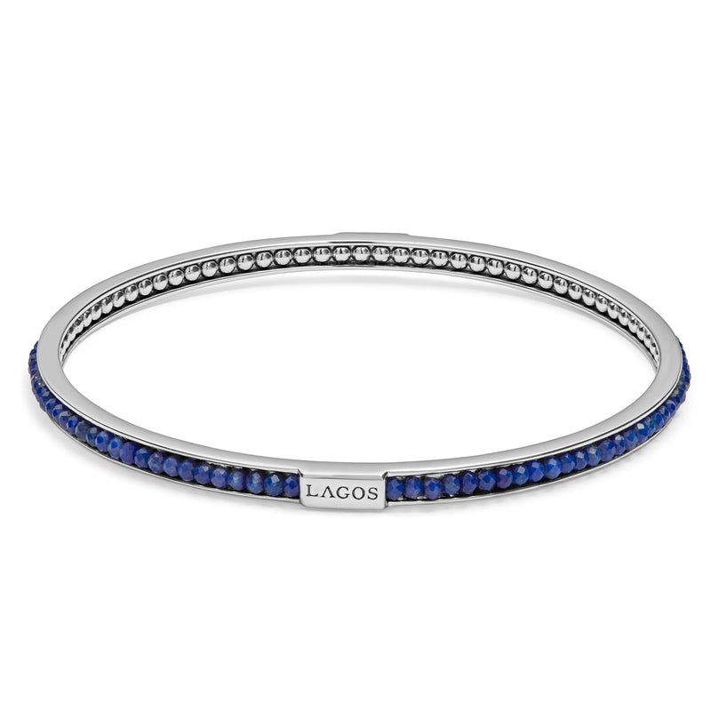 Lagos Caviar Lapis Bangle