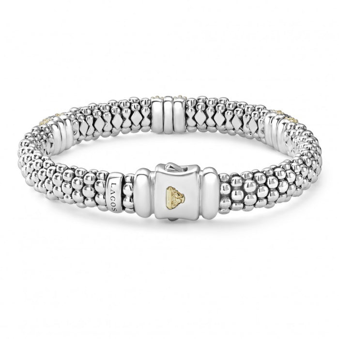 LAGOS Diamond Lux Caviar 9mm Bracelet