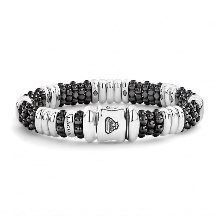 LAGOS Diamond Black Caviar Bracelet