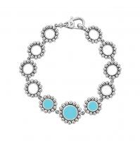 Lagos Maya Link Bracelet with Blue Ceramic