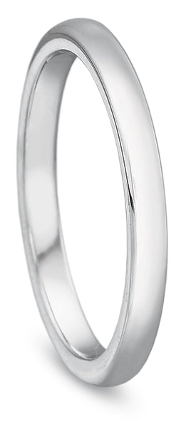 Precision Set New Aire 14k White Gold Wedding Band
