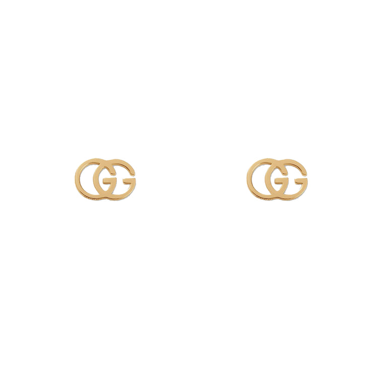 Gucci GG Tissue 18k Yellow Gold Stud Earrings