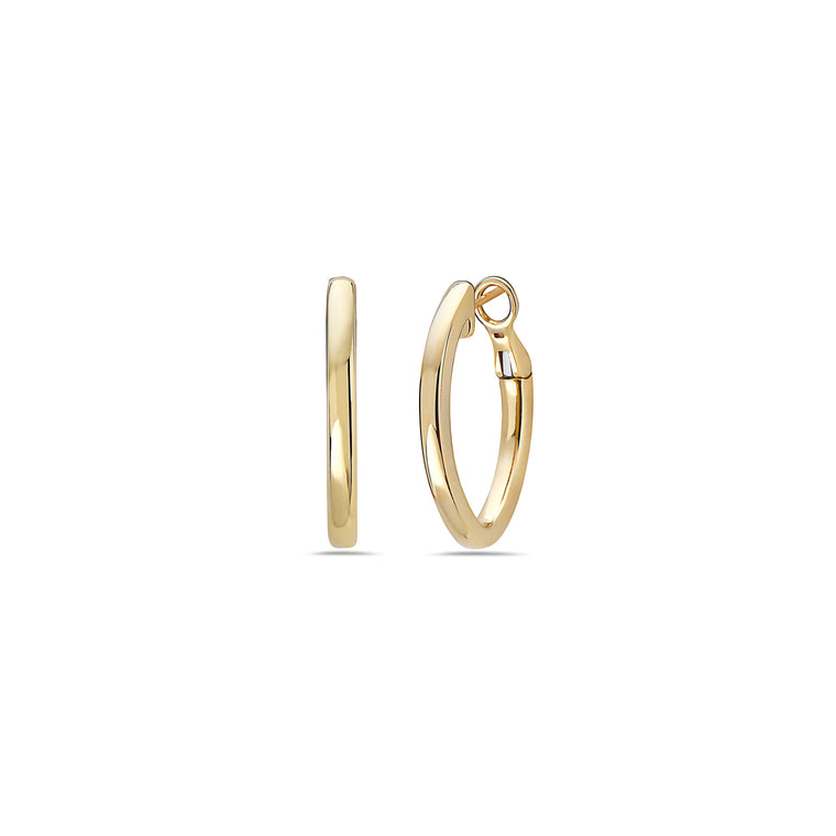 Charles Krypell 18k Yellow Gold 27mm Signature Hoop Earrings