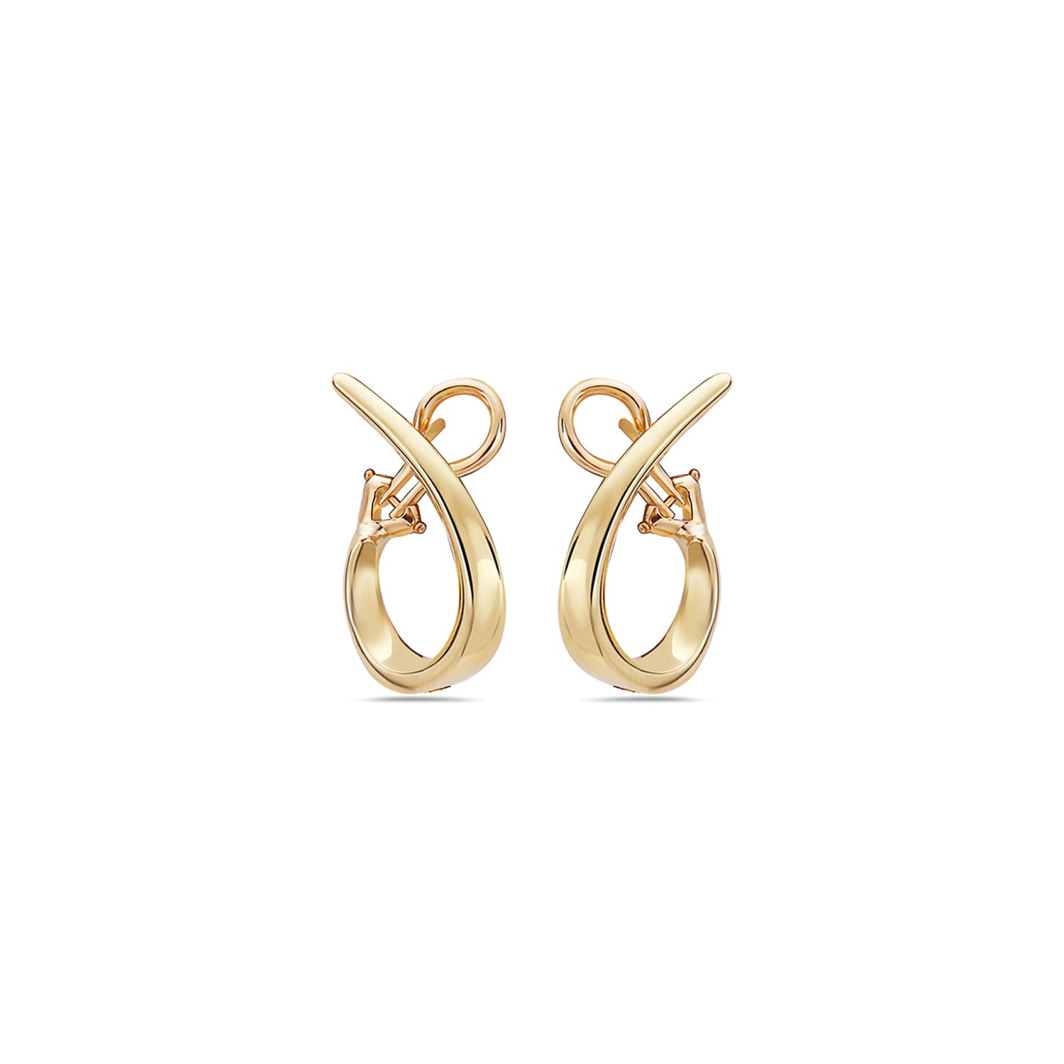 Charles Krypell 18k Yellow Gold 26mm Signature Twisted Hoop Earrings