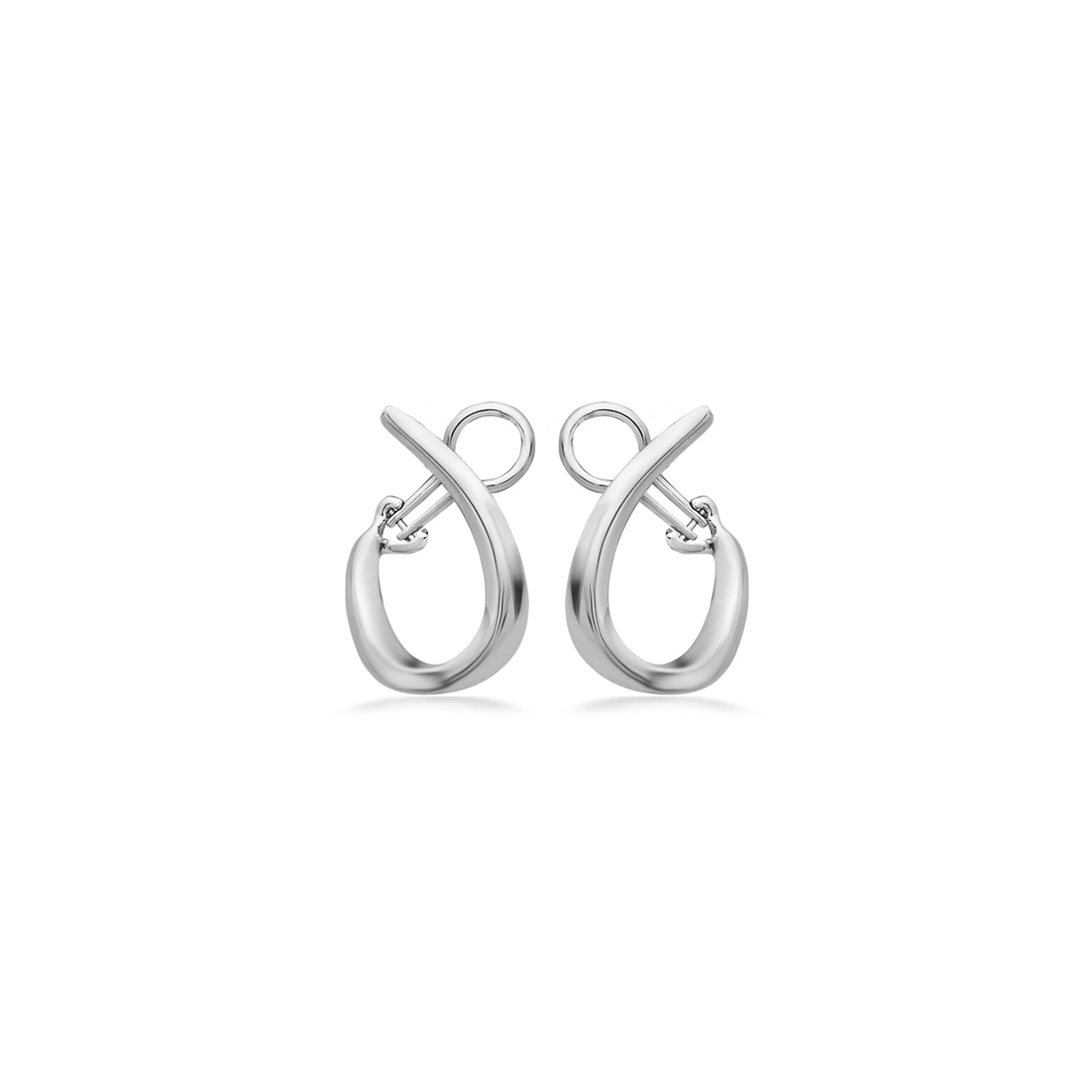 Charles Krypell 26mm Sterling Silver U Hoop Earrings