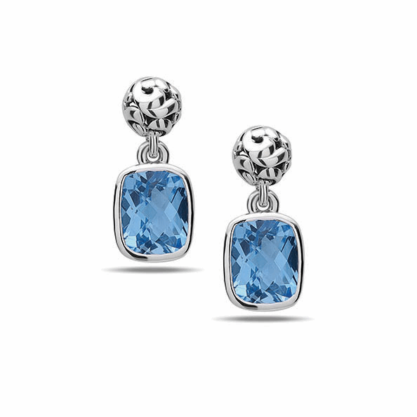 Charles Krypell Ivy Ball Drops with Blue Topaz