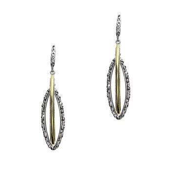 Charles Krypell Double Marquise Drop Earrings