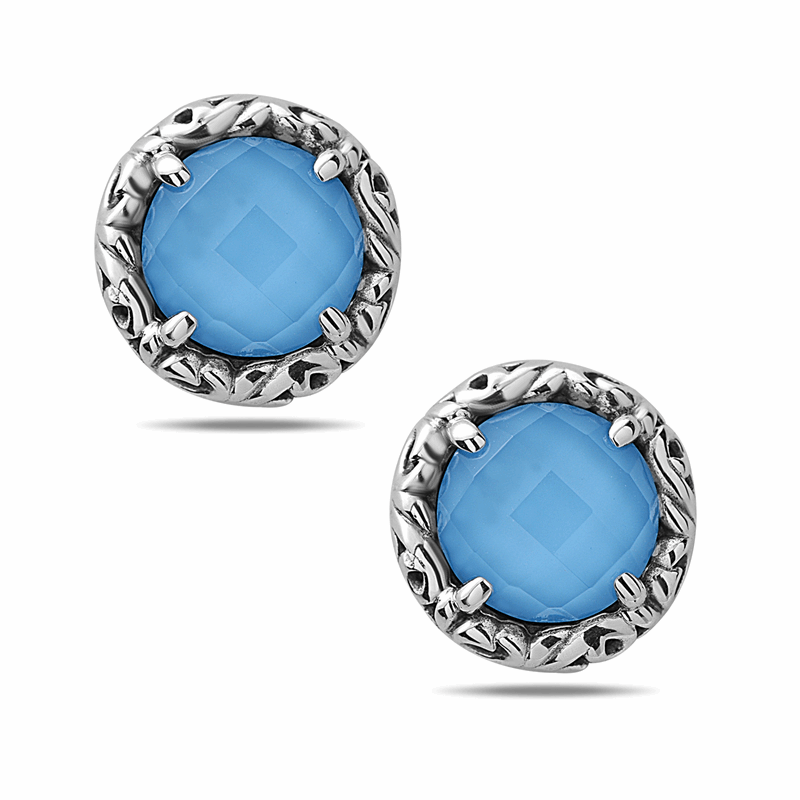 Charles Krypell Turquoise Stud Earrings