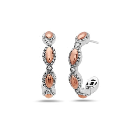 Charles Krypell Two-Toned Firefly Hoop Earrings