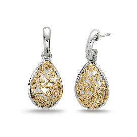 Charles Krypell Ivy Lace Pear Shaped Drop Earrings