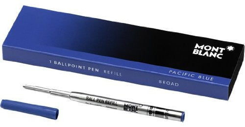 MontBlanc Ballpoint Refill in Mystery Black or Pacific Blue