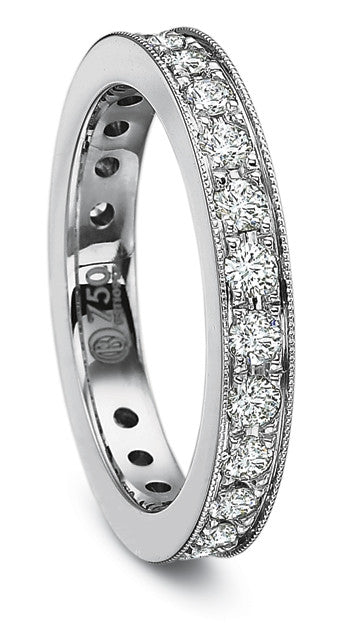 Precision Set Bead Set Eternity Band 1.00tw