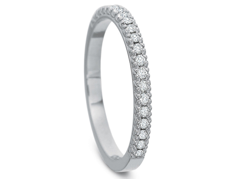 Precision Set FlushFit Half Round Diamond Band