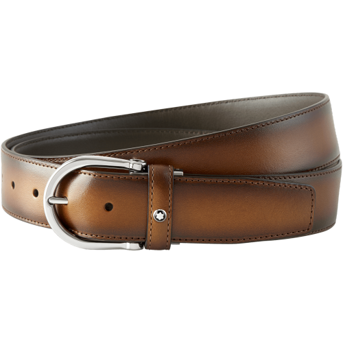 Montblanc Belt in Brown Sfumato Leather
