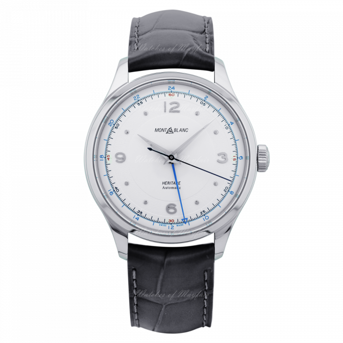 Montblanc Heritage GMT 40mm Watch with Silver Dial