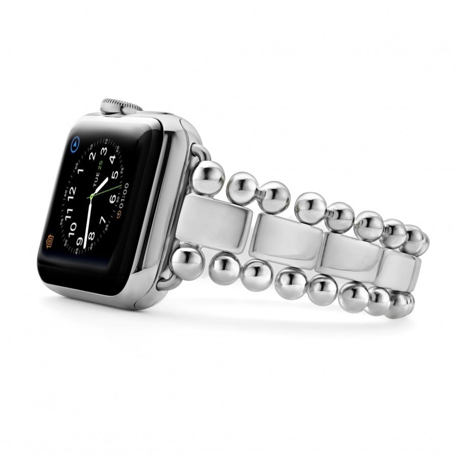 "Lagos Apple Watch 'Smart Caviar' 7"" Stainless Steel Bracelet"