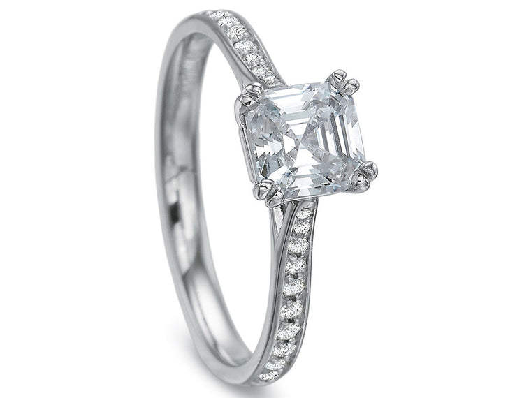 Precision Set New Aire Petite Diamond Engagement Ring