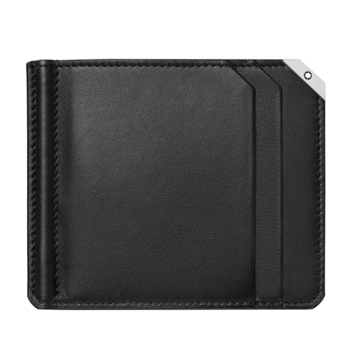 Montblanc Black Leather Meisterstuck Urban Wallet and Money Clip