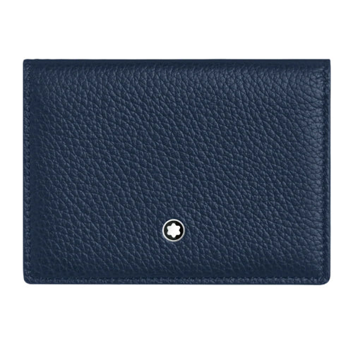 Montblanc Meisterstuck 'My Office' Blue Leather Business Card Holder