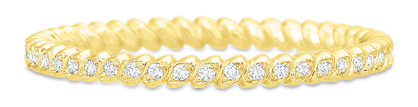 Precision Set 14k Yellow Gold Modern Classic Rope Wedding Band