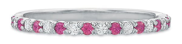 Pink @cupcakering 1.75mm in 14k White Gold