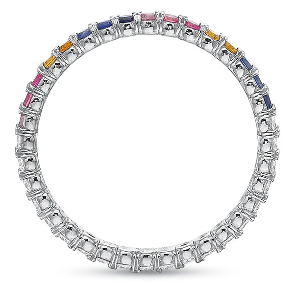 Rainbow @cupcakering 1.75mm in 14k White Gold