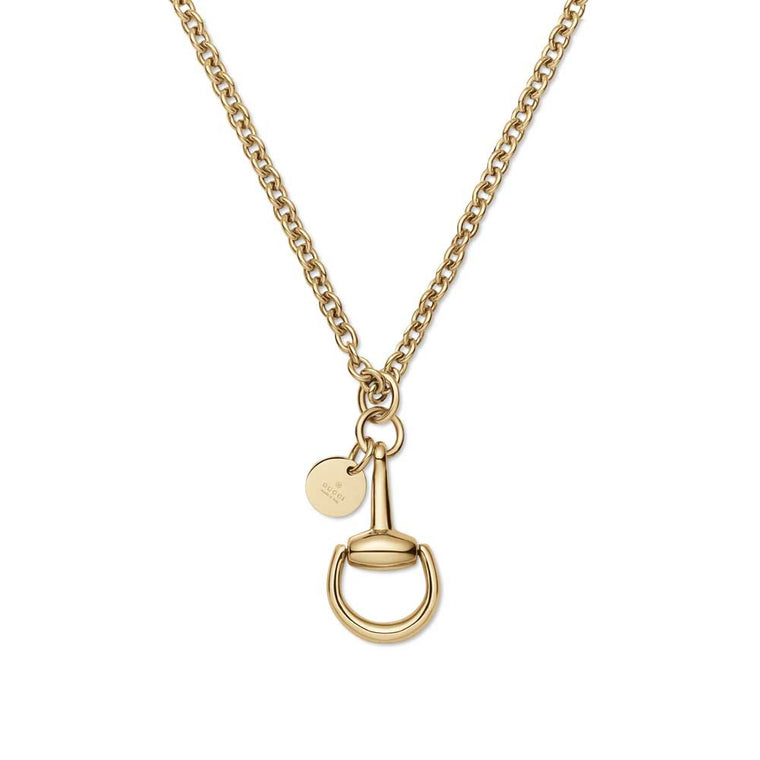 Gucci 18k Yellow Gold Horsebit Necklace