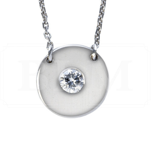14W Classic diamond disc pendant made in house at BLM