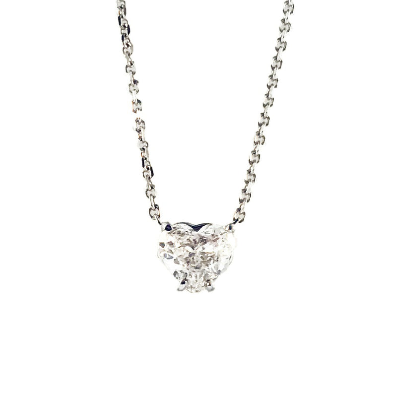 BLM 0.70 CT Heart Cut Diamond Pendant