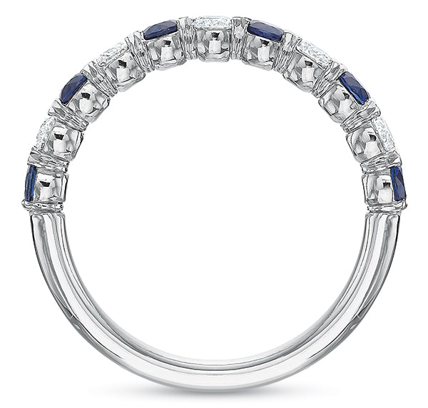 Blue @cupcakering 2.7mm in 14k White Gold