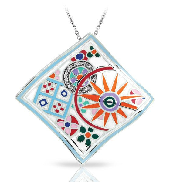 Belle Etoile Pashmina Pendant with Multi-Colored Enamel
