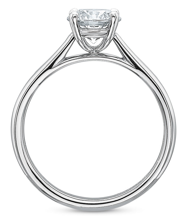Precision Set New Aire 14k White Gold Solitaire Engagement Ring