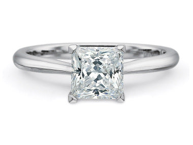 Precision Set New Aire Princess Cut Semi Mount Engagement Ring