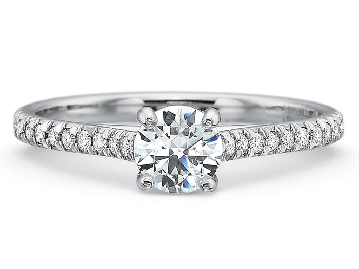 Precision Set New Aire Engagement Ring With 0.12ct Diamonds