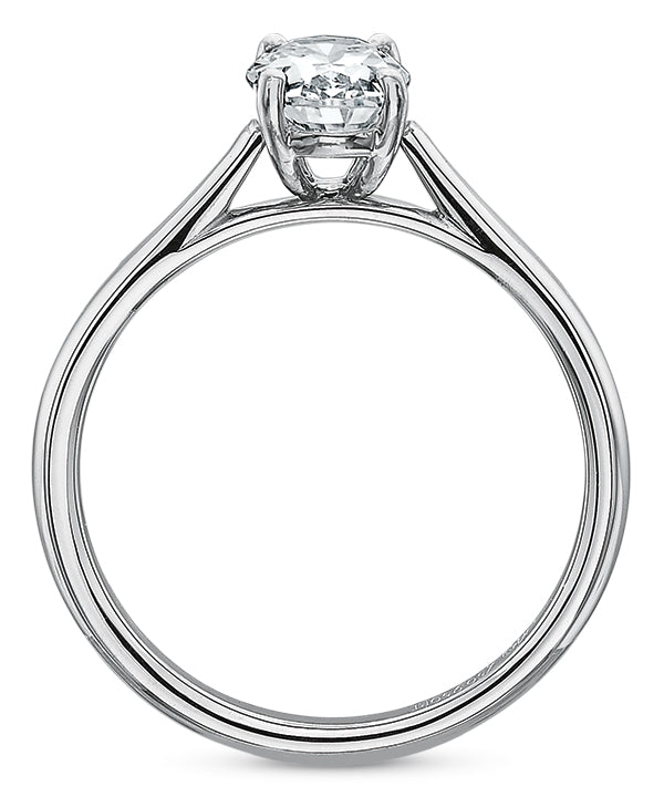 Precision Set Oval Solitaire Engagement Ring