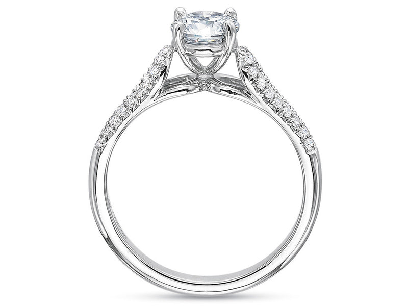 Precision Set New Aire Ring With Diamond Loops