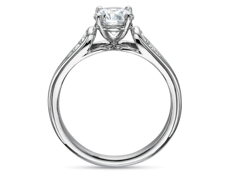 Precision Set New Aire Ring With Loop Diamond Set