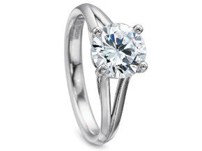 Precision Set New Aire Solitaire Ring