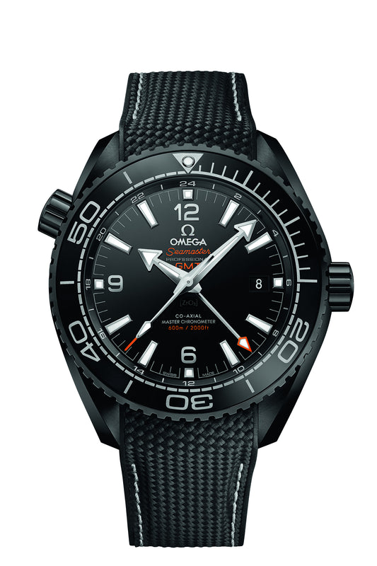 Omega 45.5mm Seamaster Planet Ocean 'Deep Black' Master Chronometer GMT