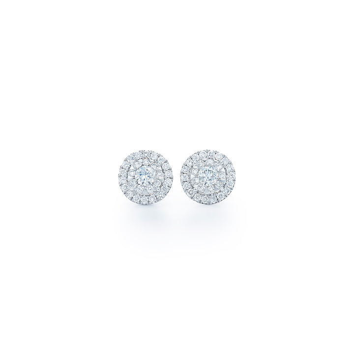 Kwiat Sunburst Diamond Stud Earrings