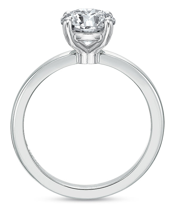 Precision Set 14k White Gold Modern Classic Solitaire